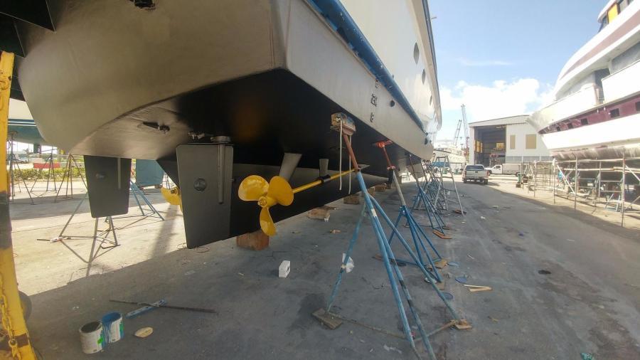 Prop speed starboard side