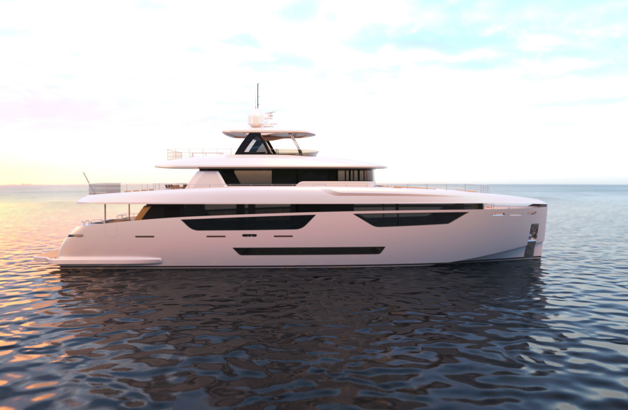 photo of 115' Johnson SKYLOUNGE w/FB w/ON-DECK MASTER 2021