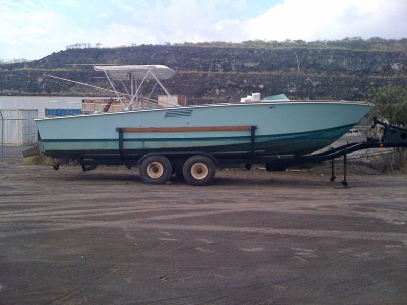 Rybovich Custom Boat 1979 Ha'aviti On Trailer