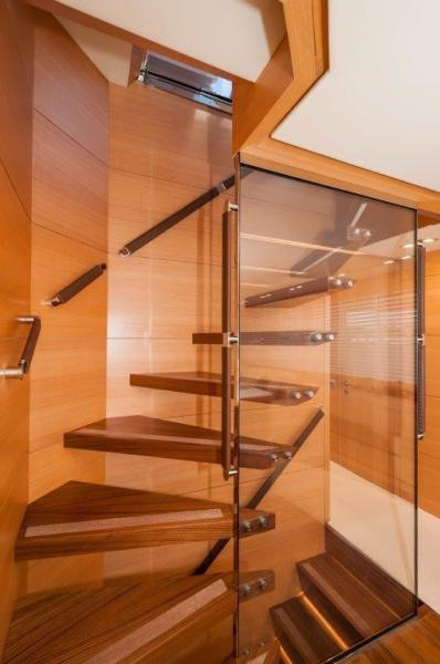 2015 Maiora 84 Motor Yacht Staircase Never Rest
