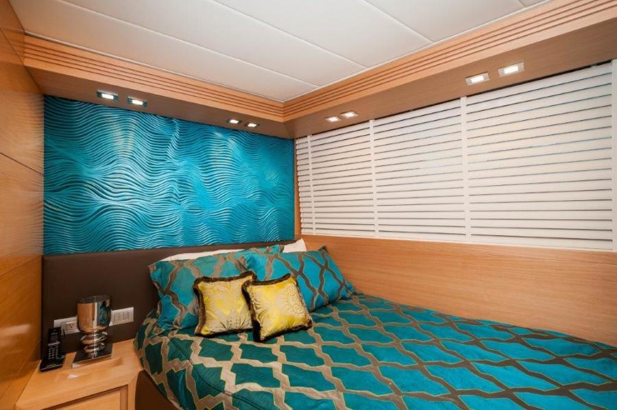 2015 Maiora 84 Motor Yacht Starboard Guest Room Never Rest