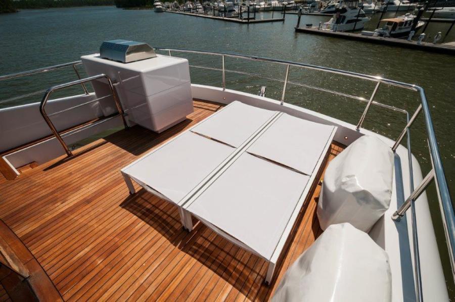 2015 Maiora 84 Motor Yacht Aft Deck Never Rest