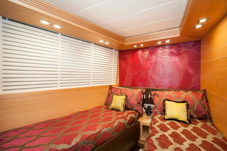 2015 Maiora 84 Motor Yacht Port Guest Stateroom Never Rest