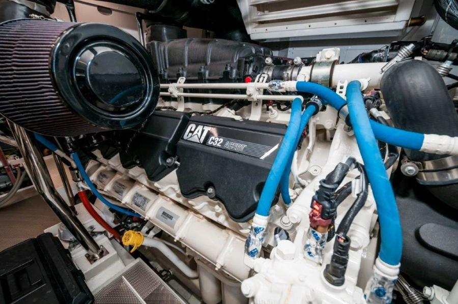2015 Maiora 84 Motor Yacht Engine Compartment Never Rest