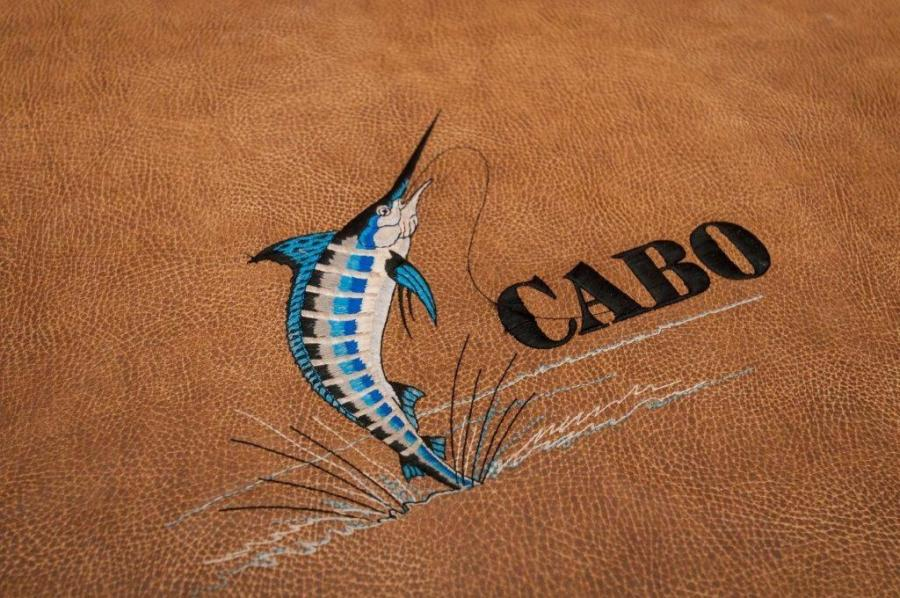2008 45' Cabo Express Sea J's Passion Cabo Logo