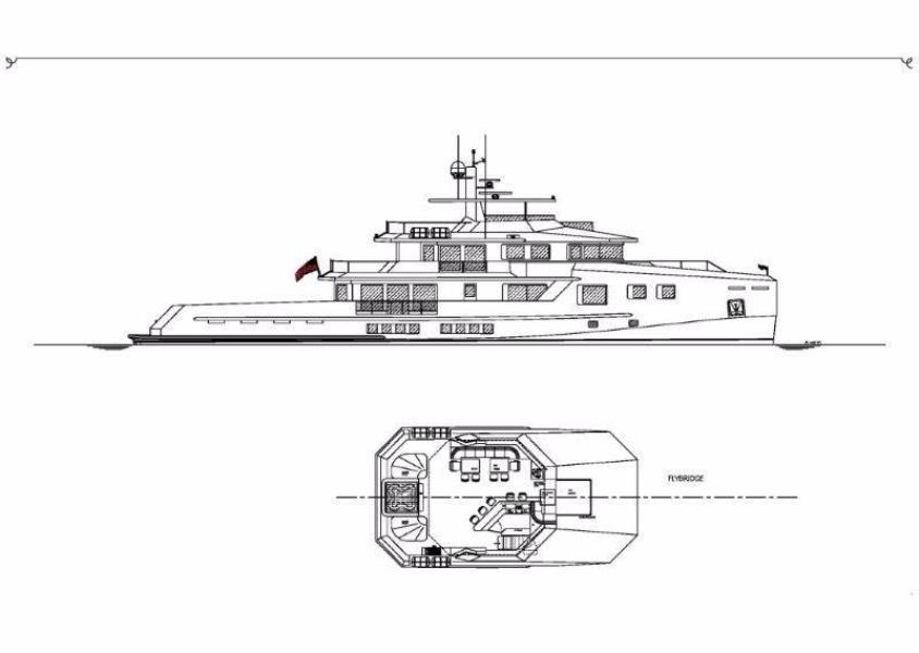 Profile and flybridge deck
