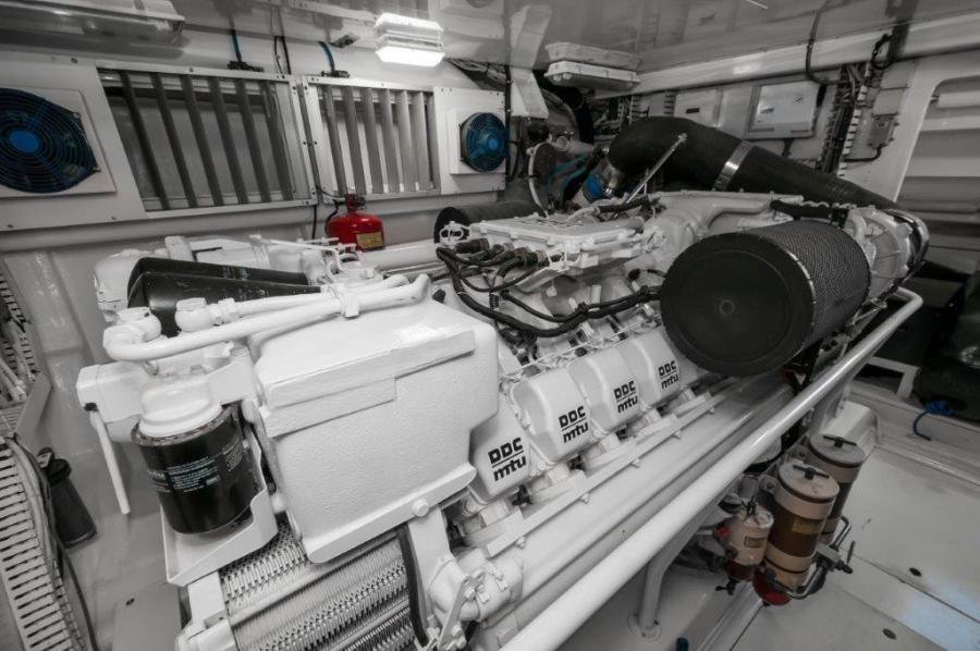 2003 67 Bertram Convertible Brittany Jean Engine Room