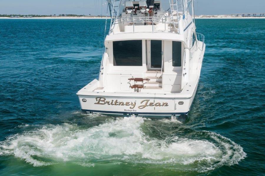 2003 67 Bertram Convertible Brittany Jean Transom