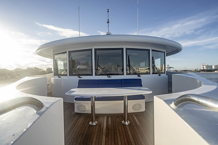 Seating forward of Pilothouse