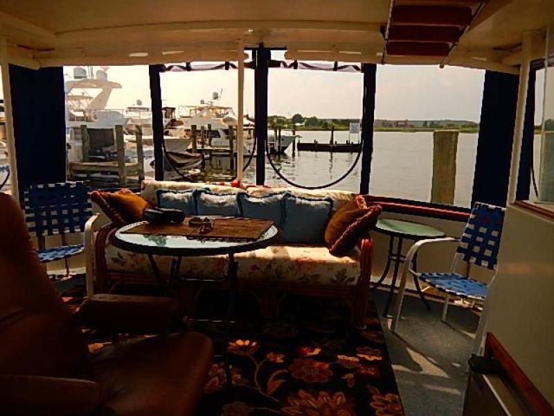 New aft deck furniture