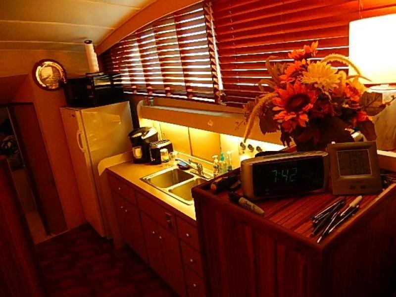 Galley starboard side one step down