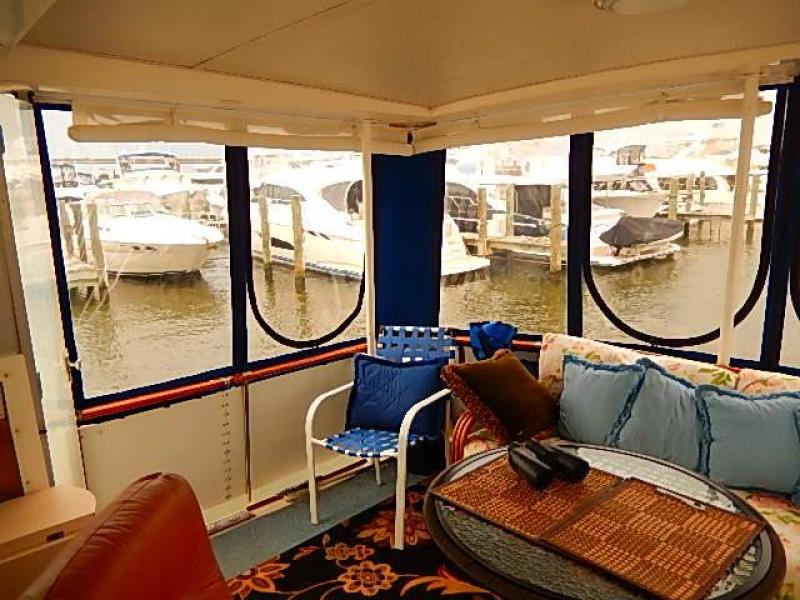 Aft enclosure great for fall cruising