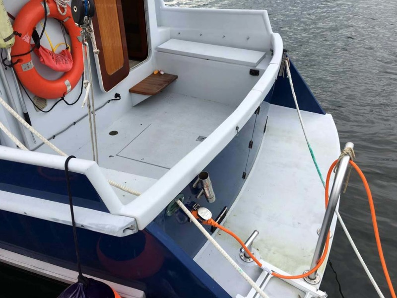 Cockpit and Swim Platform