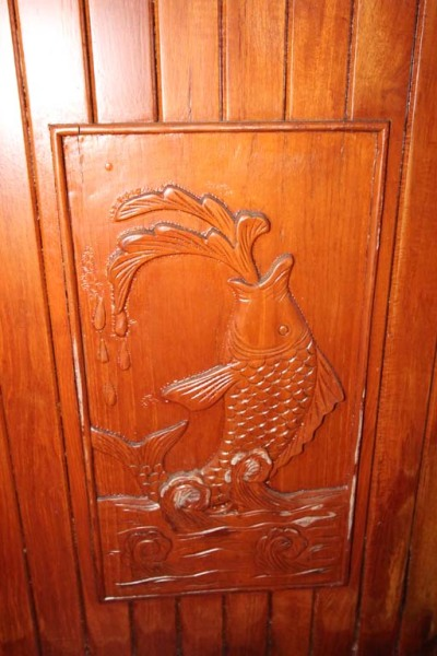 Pilothouse Inside Door Carving Detail