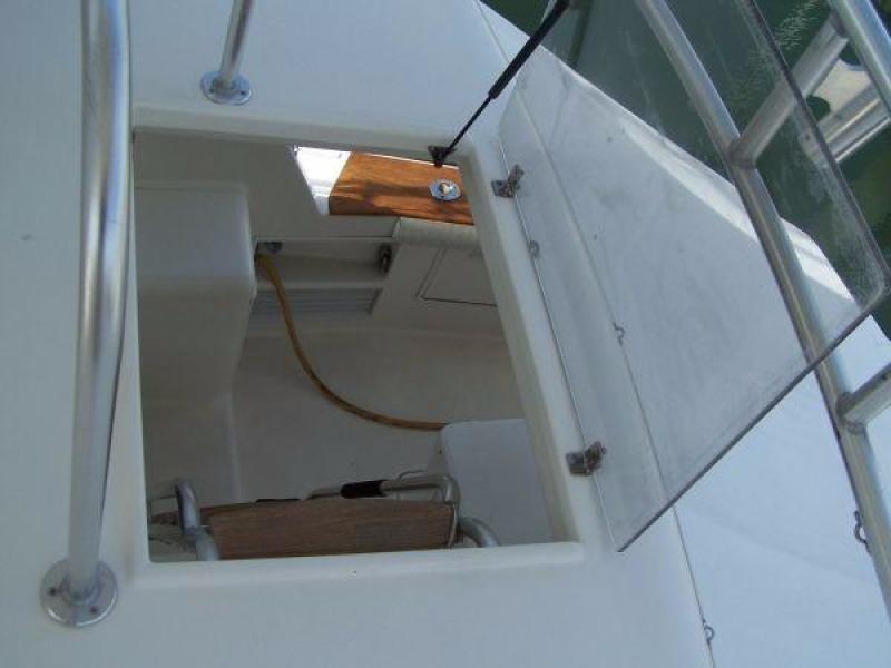 1997 Ocean Yachts 48 Super Sport - Bridge Ladder