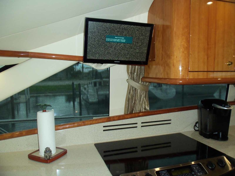 Lower Helm Chair on Galley TV