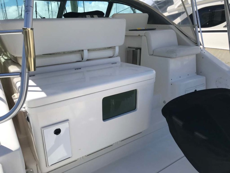 Tackle Center with Large Live Well, Sink, and Storage Compartment