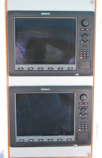 Dual Simrad NSE12 Multifunction Displays