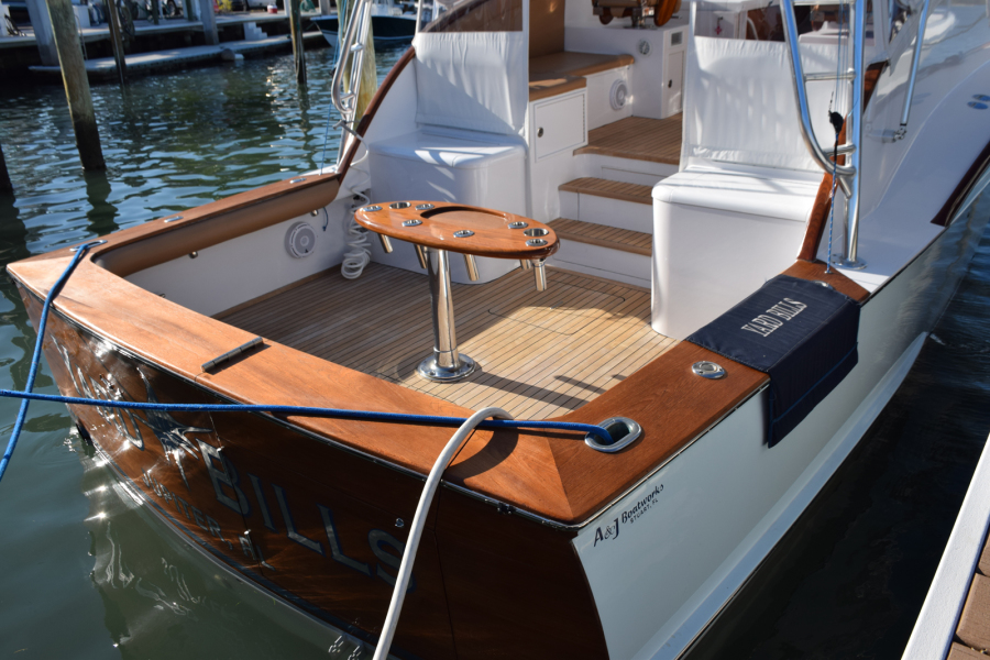 Teak cockpit, coverboards and transom