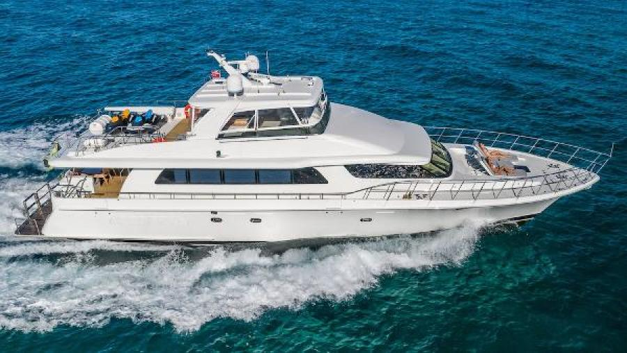 Cheoy Lee 2007-OCULUS Bahamas-Starboard Profile Underway-1257164-featured