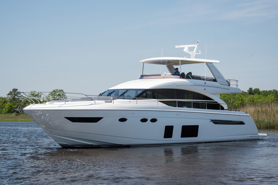 Princess-68 Flybridge Motor Yacht 2018-TARHEEL New Gretna-New Jersey-United States-Port Side -1264206-featured