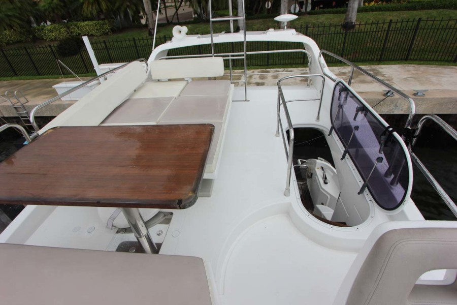 Flybridge Looking Aft and Access to Cockpit