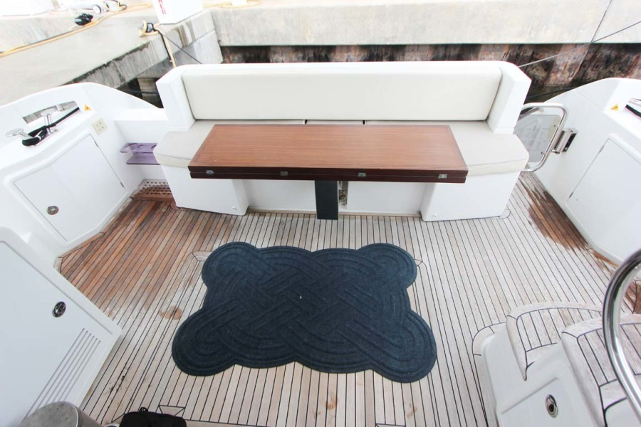 Molded Bench Seating with All Weather Cushions