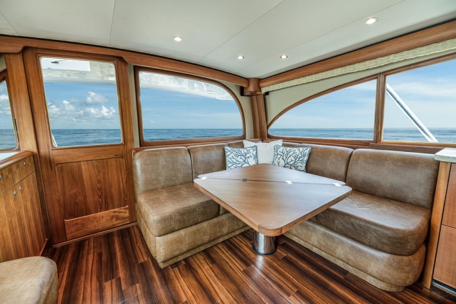 Cabin Entry and Salon Settee to Port