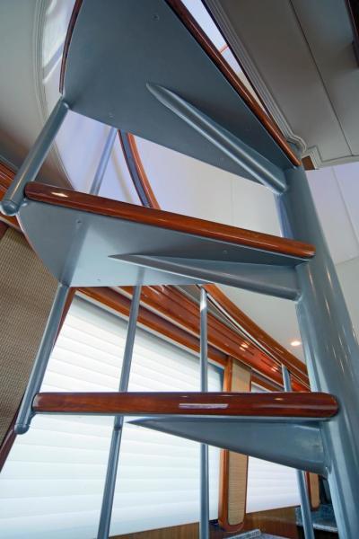 Stairs to Enclosed Bridge