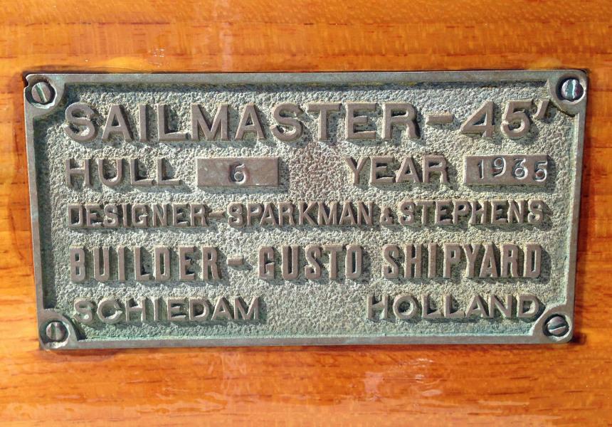 Midnight Sailmaster Plaque
