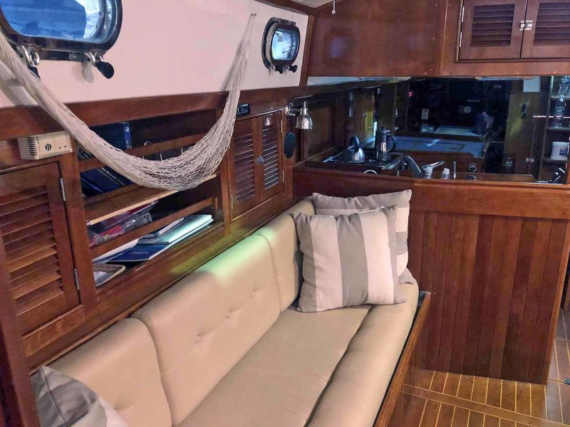 Starboard Settee, Looking Aft