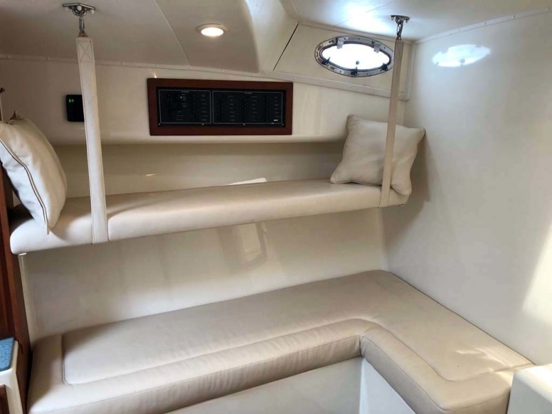 Starboard Salon Couch Converts To Double Bunks
