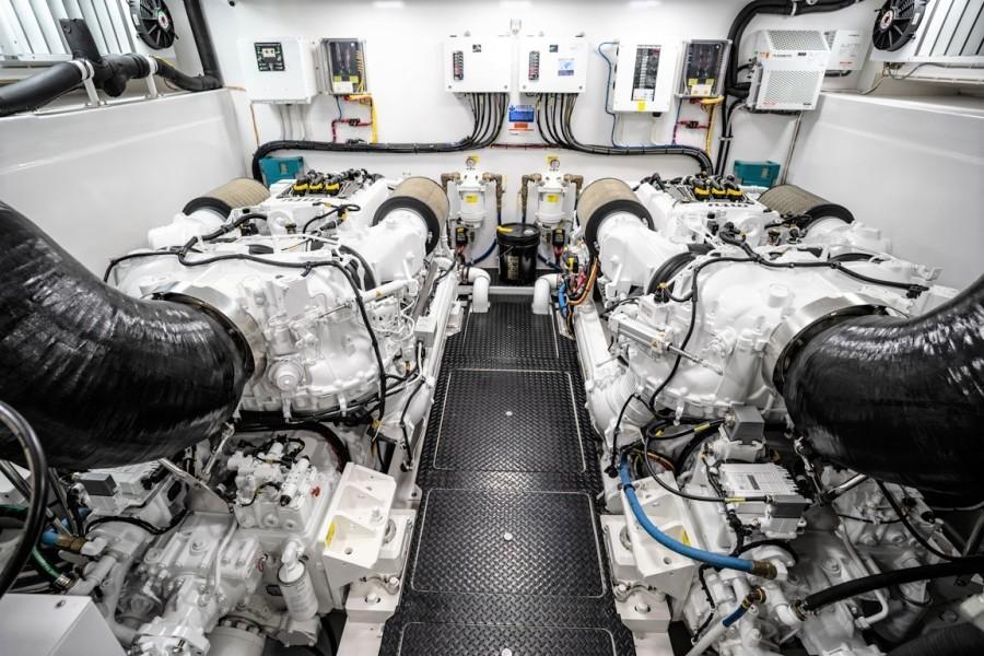 Viking 82CPMY Make It Happen Engine Room
