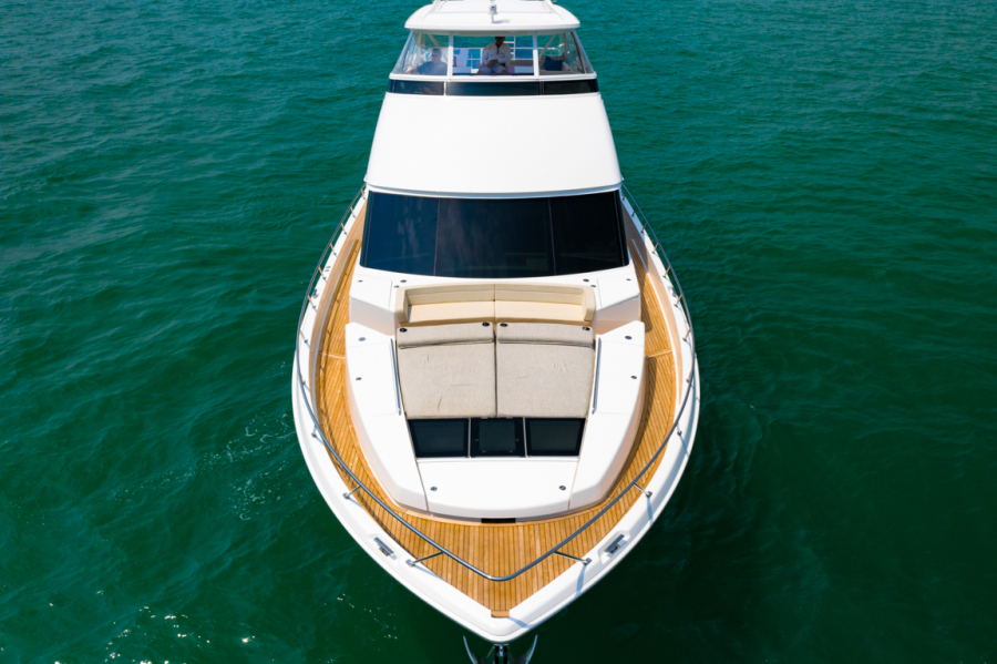 Viking 82CPMY Make It Happen Bow Aerial