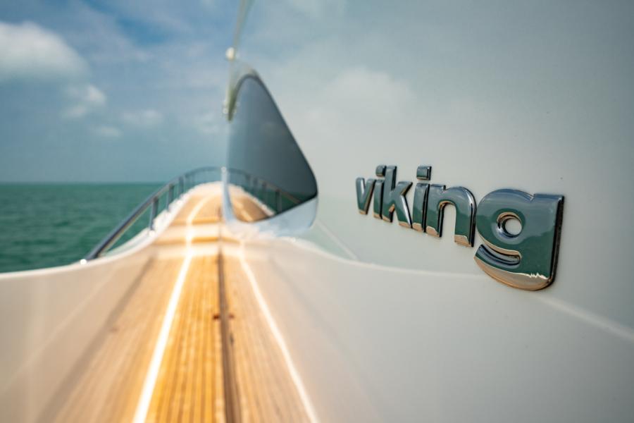 Viking 82CPMY Make It Happen Port Side Deck