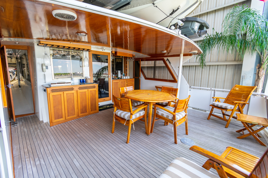 Jefferson 65 Motor Yacht 1989 Moon Palace Aft Deck