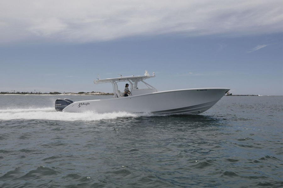 Yellowfin-42 Offshore 2015-No Name Panama City Beach-Florida-United States-2015 42 Yellowfin No Name Starboard Running Profile-1388330-featured