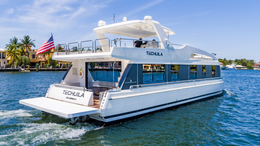 Overblue-58 Power Catamaran 2017-Techuila Ft. Lauderdale-Florida-United States-2017 Overblue 58 Powercat Starboard Aft View-1401108-featured