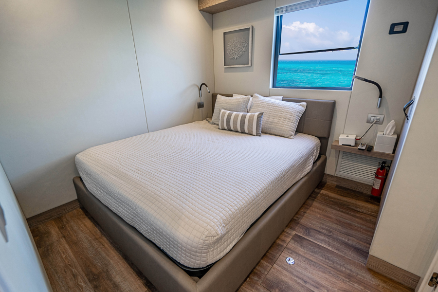 2017 Overblue 58 Powercat Guest Stateroom