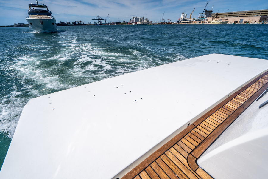 2017 Overblue 58 Powercat Swim Platform