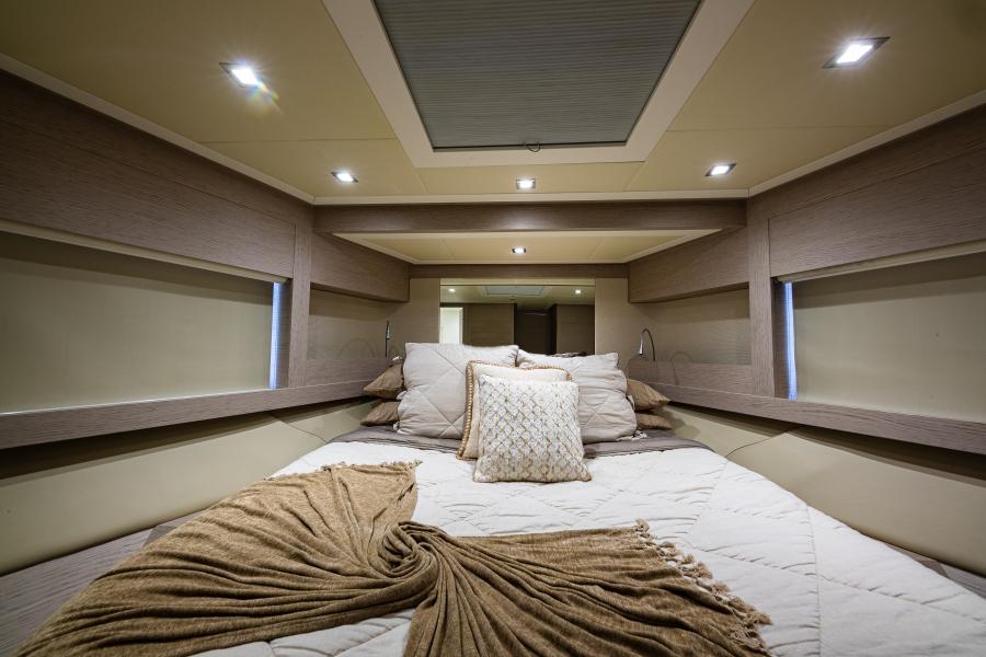 64 Pershing Master Stateroom