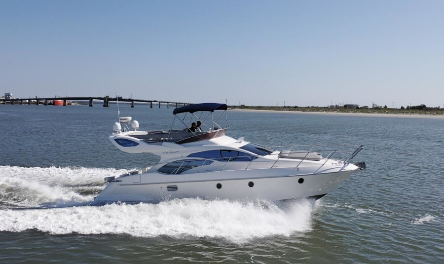 Azimut-43 Flybridge 2007-Wired Up Cape May-New Jersey-United States-Main Profile Underway-1402746-featured