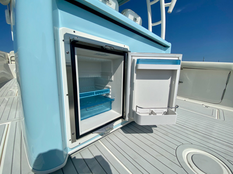 2019 34 Cobia 344 Center Console - Mi-Wave - Refrigerator