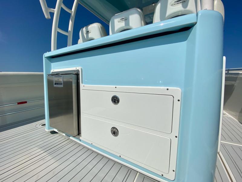 2019 34 Cobia 344 Center Console - Mi-Wave - Console Refrigerator and Storage