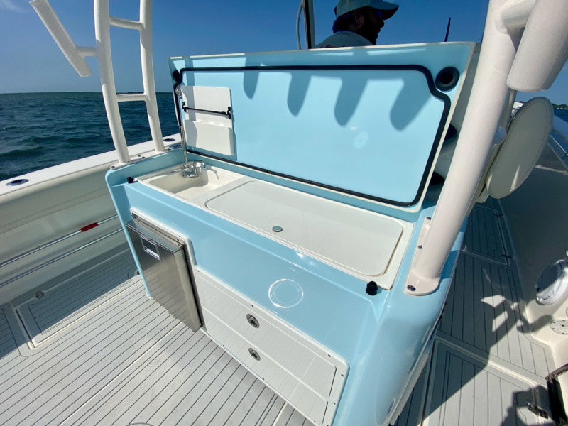 2019 34 Cobia 344 Center Console - Mi-Wave - Console Sink and Storage