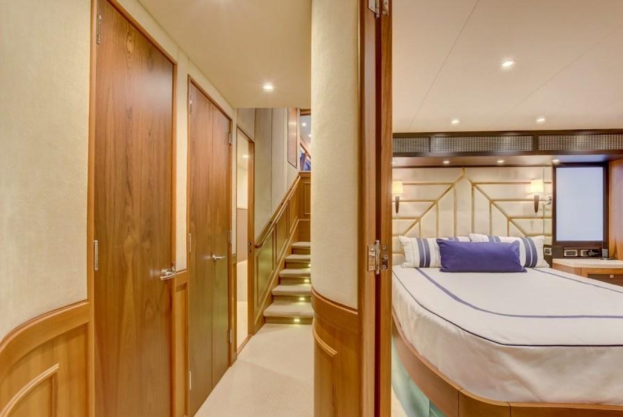 Cabin Hallway & Master Stateroom