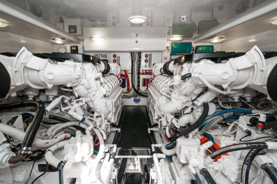 2015 Viking 52 Open Engine Room