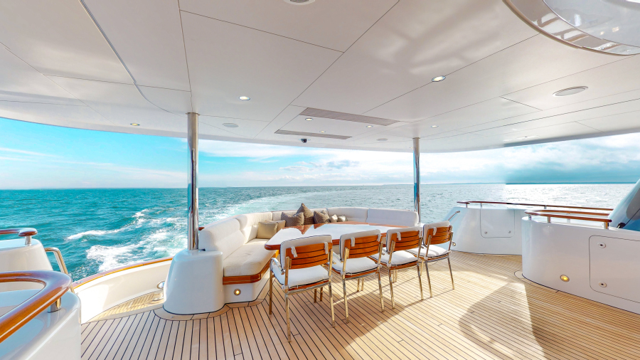 Feadship 153 - EXCELLENCE - Aft Deck Lounge