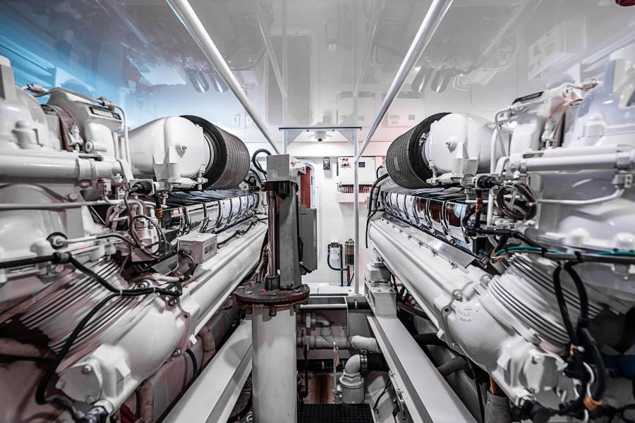 74 Viking Engine Room