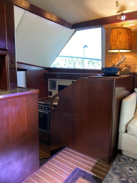 65 Galley From Stairs Across Boat